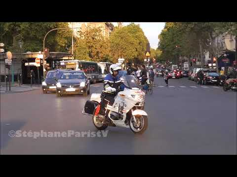 Police escort a minister in Paris
