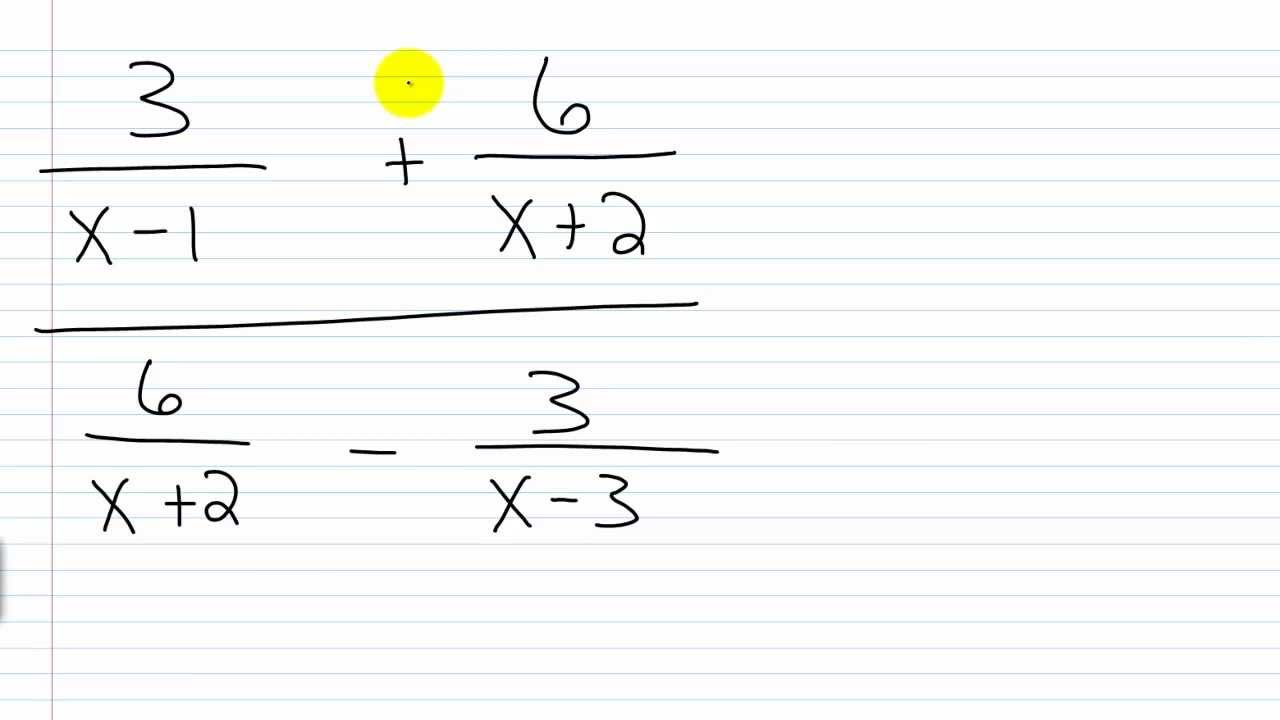 Complex Rational Expressions/Complex Fractions with