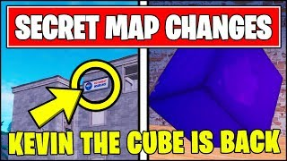 "*NEW* Fortnite SECRET MAP CHANGES V8.20 - KEVIN THE CUBE & ""NO SWEAT INSURANCE"" TILTED TOWERS"
