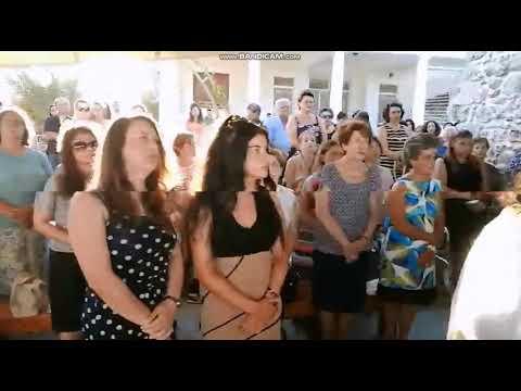 Ο εσπερινός στο παρεκκλήσιο των Αγίων Μαρτύρων Κηρύκου και Ιουλλίτης στην Κάλυμνο