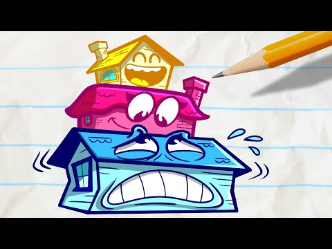 Pencilmate's House is Under Pressure!   Animated Cartoons Characters   Animated Short Films