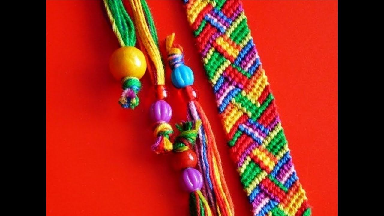 Плетем браслеты из ниток своими руками