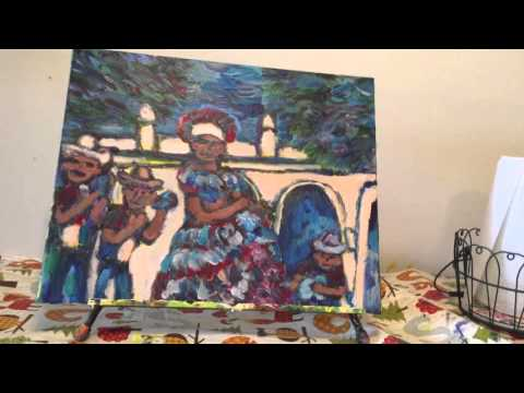 Artist Vlog Cayman Island Performers Painting 4/9/16