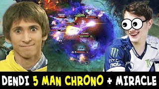 Dendi 5 MAN CHRONO gives Miracle ULTRA KILL — 2 LEGENDS in 1 team