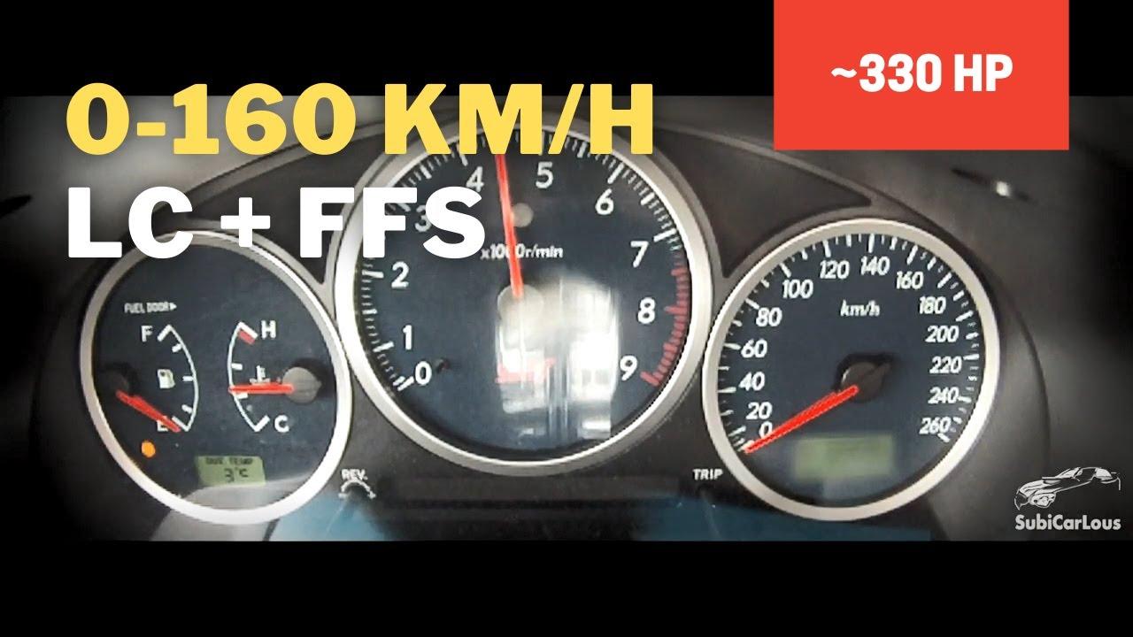 Subaru Impreza WRX STi MY05 0-60, 0-100, 0-160 km/h with LC and FFS ...