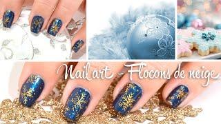 Tuto Nail art - Flocons de neige