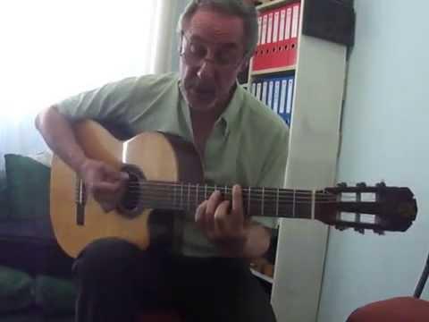 Tango: Las Cuarenta - Ruben Biglieri: canto y guitarra.