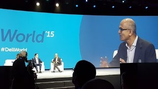Microsoft CEO Satya Nadella speaks at Dell World 2015