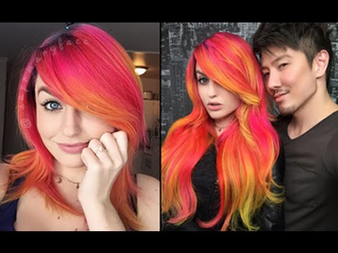 Green To Red Hair Dying With Guy Tang Supermaryface