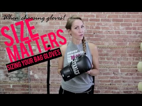 Boxing Equipment - Correct Size Boxing Gloves