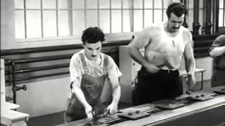 Чарли Чаплин-Новые времена (отрывок)