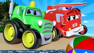 малыши в Автомобильном Городе - ПЛЯЖНЫЙ день на детской площадке - детский мультфильм