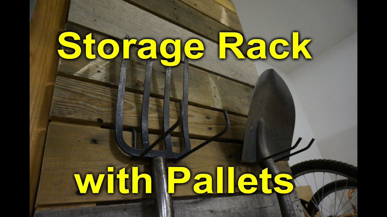 Pallet storage rack for the garage - Modular and Easy DIY - YouTube