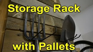 Pallet Storage Rack For The Garage - Modular And Easy Diy