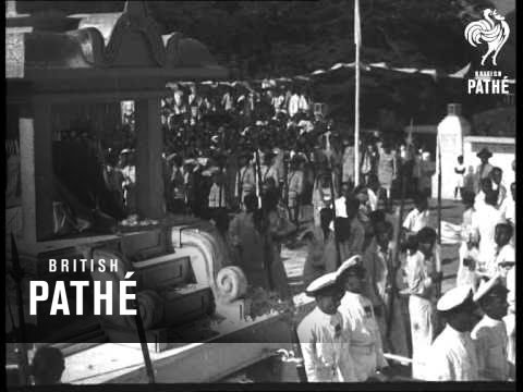 Funeral Of Mr. Senanayake - Ceylon's Prime Minister (1952)