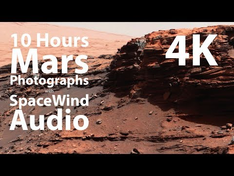 4K UHD 10 hours - Mars Rover Photographs with Space Wind Audio - 1 hour
