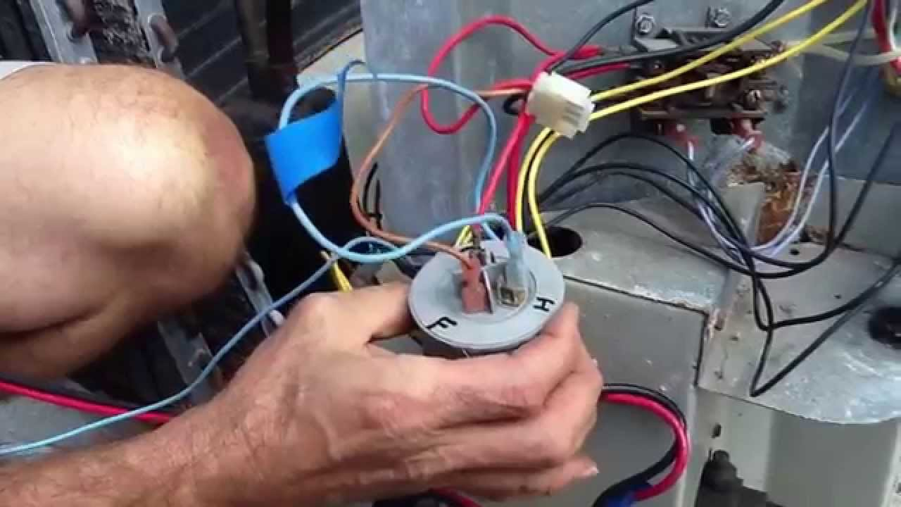 Basic Compressor Wiring Youtube Old Ac Thermostat