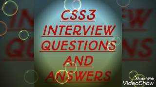 css3 interview questions and answers