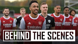 📸 PHOTOCALL DAY AT COLNEY | Behind the scenes at Arsenal training centre
