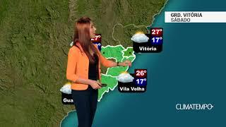Previsão Grande Vitória - Muitas nuvens