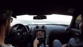 Driving the Dodge Viper up Jebel Jais mountain UAE
