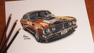 Ford Falcon 351 GT | Australia | Car Drawing