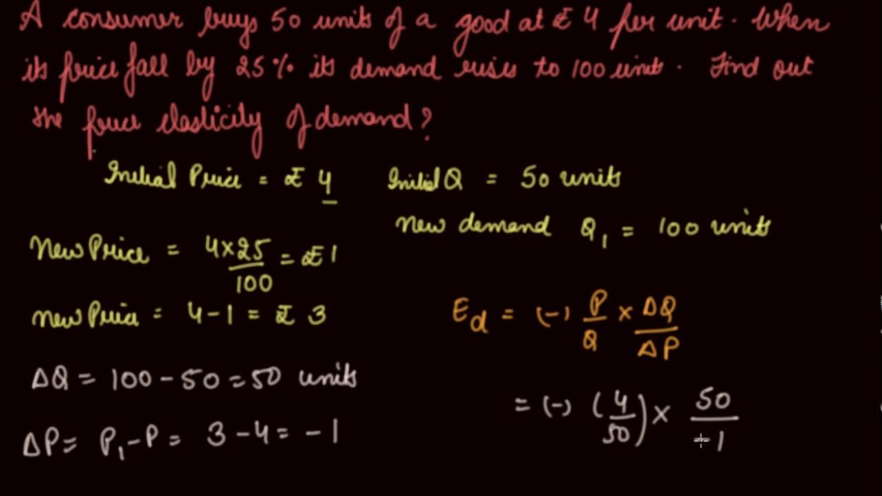 Numericals On Elasticity Of Demand Class 12 Microeconomics