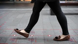 City to Create Slow & Fast Walking Lanes