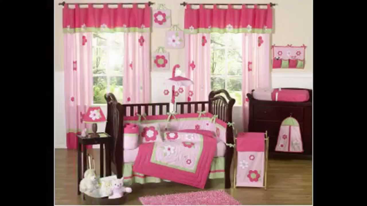 Beautiful baby girl nursery room decorating ideas youtube for Baby girls bedroom designs