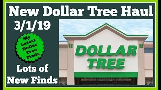 New Dollar Tree Haul 3/1/19 🤑 Lots of New Goodies