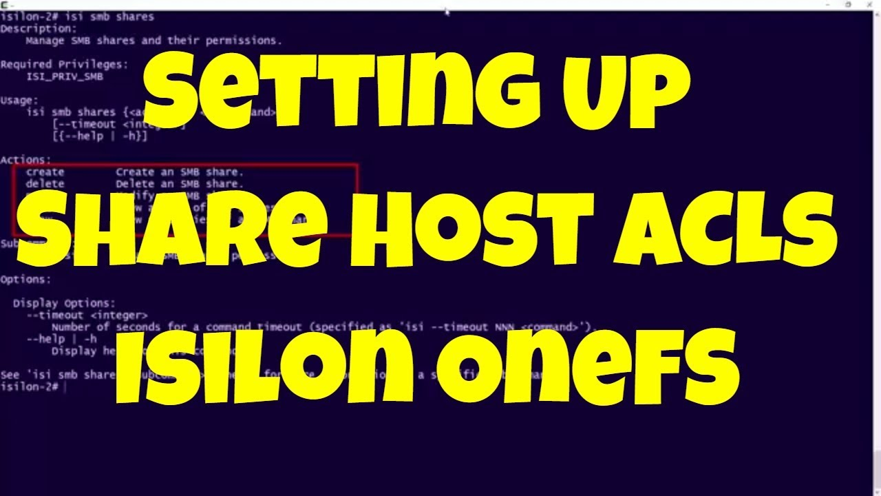 Setting Up Host ACLs on Isilon File Share