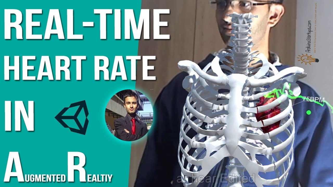Augmented Reality Heart Rate Monitor -Internet of Things Augmented Realtiy  Tutorial Unity