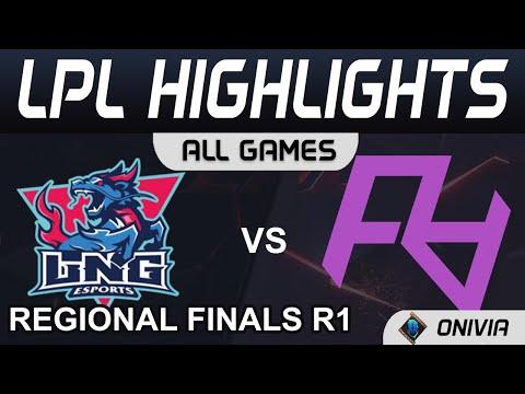 Download LNG vs RA Highlights ALL GAMES LPL Regional Finals R1 2021 LNG Esports vs Rare Atom by Onivia