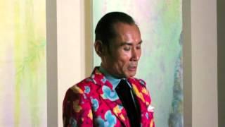 片岡鶴太郎さんの画業20周年を記念する展覧会「四季彩花」その2。内覧会...