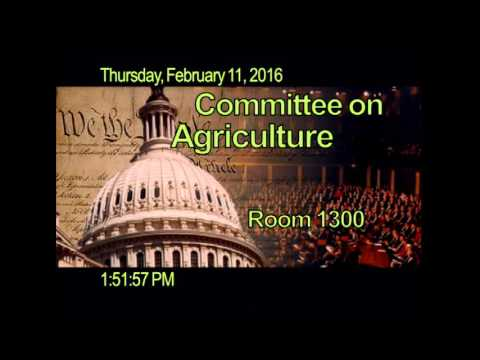 Subcommittee on Livestock and Foreign Agriculture – Public Hearing: Foot and Mouth Disease