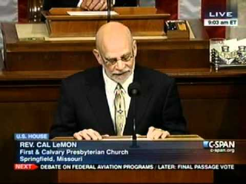 Reverend LeMon delivers the opening prayer in the U.S. House of Representatives