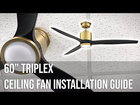 """60"""" Triplex Ceiling Fan Installation Guide"""