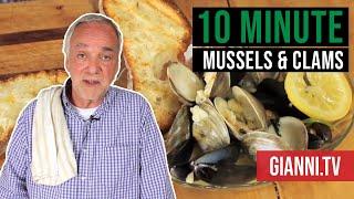 10 Minute Mussels & Clams Via Campagnia, Italian Recipe - Gianni's North Beach