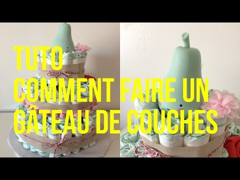 tuto comment faire un g teau de couches pour une baby shower youtube. Black Bedroom Furniture Sets. Home Design Ideas