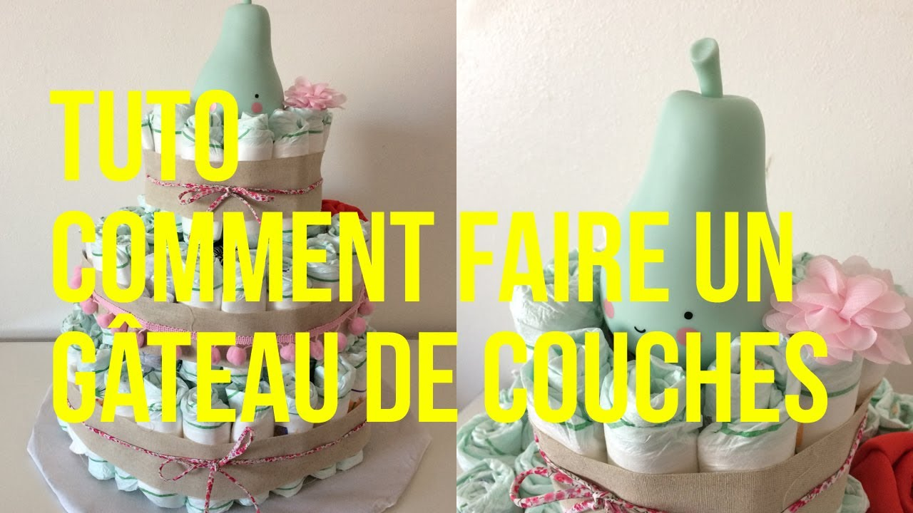 Gateau pampers youtube