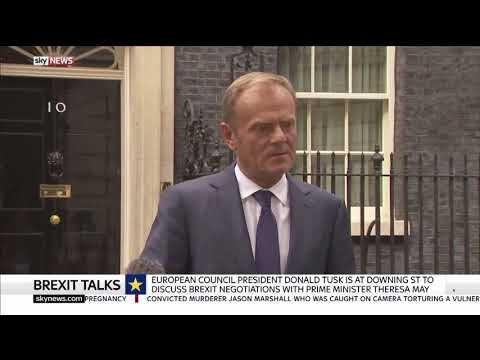 Donald Tusk remarks in Downing Street - 26/09/2017