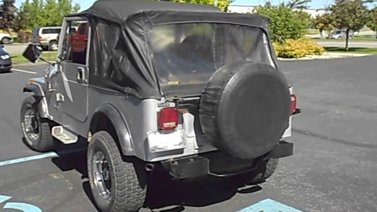 jeep cj 7 with a custom flowmaster exhaust system www candhautoaccessories net [ 1280 x 720 Pixel ]
