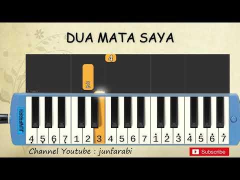 Not Pianika Dua Mata Saya - Tutorial Belajar Pianika Lagu Anak - Not Angka Dua Mata Saya