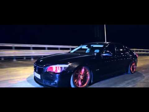 BAD BLACK BMW F01 7series on RED Vossen CV-T