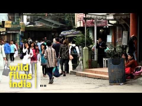 Market area of Chowrasta - Darjeeling