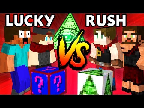KRASSES 2vs2 SHADE ILLUMINATI BATTLE | Minecraft LUCKY RUSH | baastiZockt