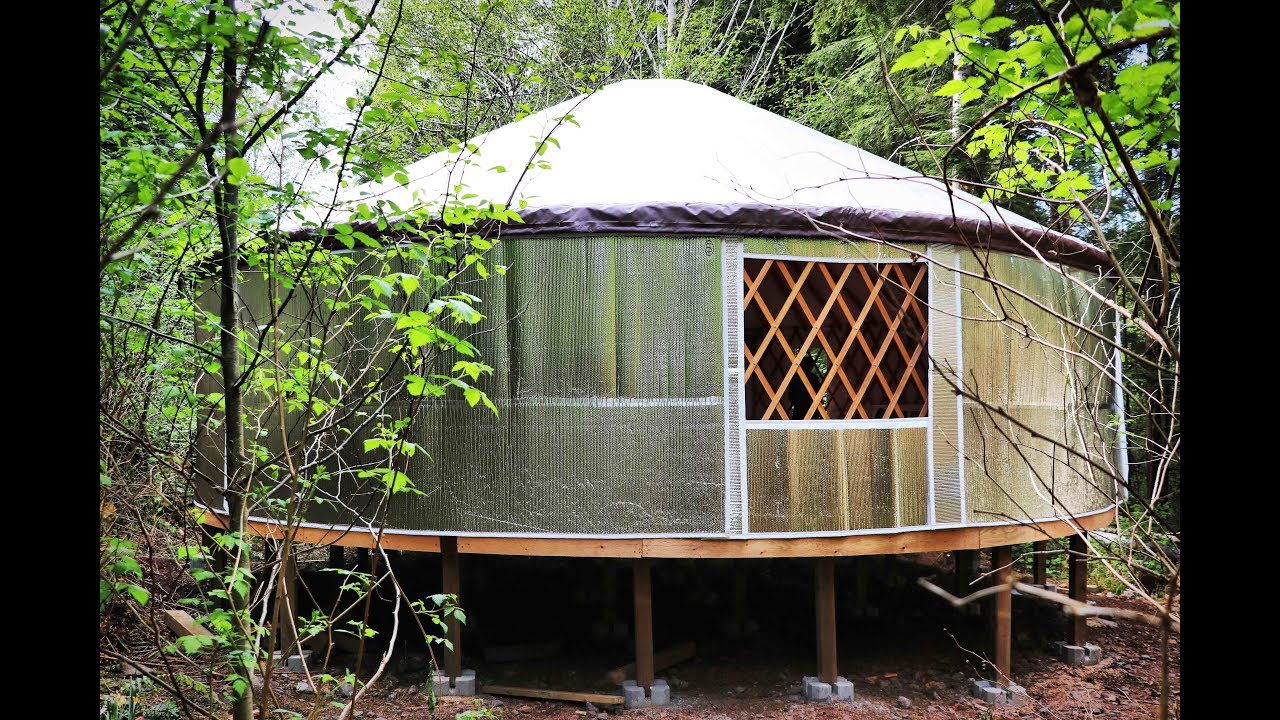 Escaping The Rent Trap | Tiny House Living - BUILDING A YURT - Finale, Part  1/2