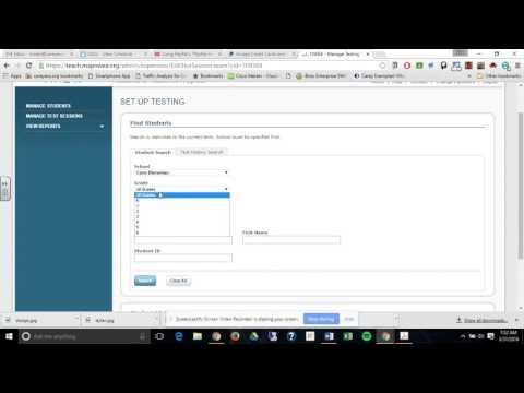 Create MAP NWEA Testing Sessions