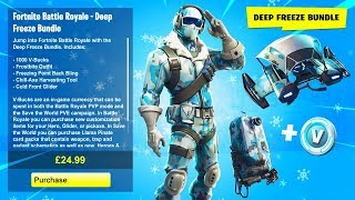 "NEW ""DEEP FREEZE BUNDLE"" in Fortnite Battle Royale! (New ""Frostbite"" Skin Bundle)"