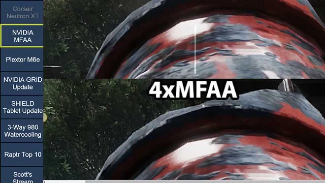 NVIDIA Multi-Frame Sampled Anti-Aliasing (MFAA) Tested on GTX 980